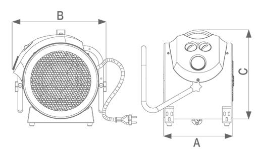 caldopro plus termoventilatore professionale 5000t 5000w