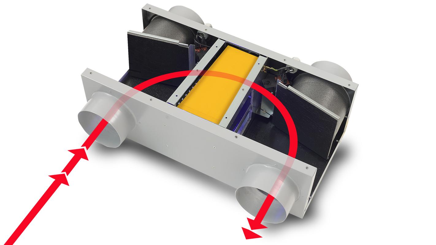 Sistema ha phantom 200 ventilazione residenziale - Ventilazione recupero calore ...