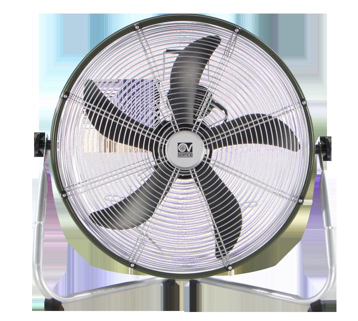 Grigio//Verde VORTICE 60601 Ventilatore da pavimento 650 x 610 x 280 mm